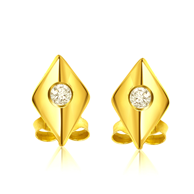 Diamonds are forever -Solitaire Earrings