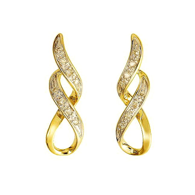 Diamonds Wings 0.16ct Diamond Earrrings