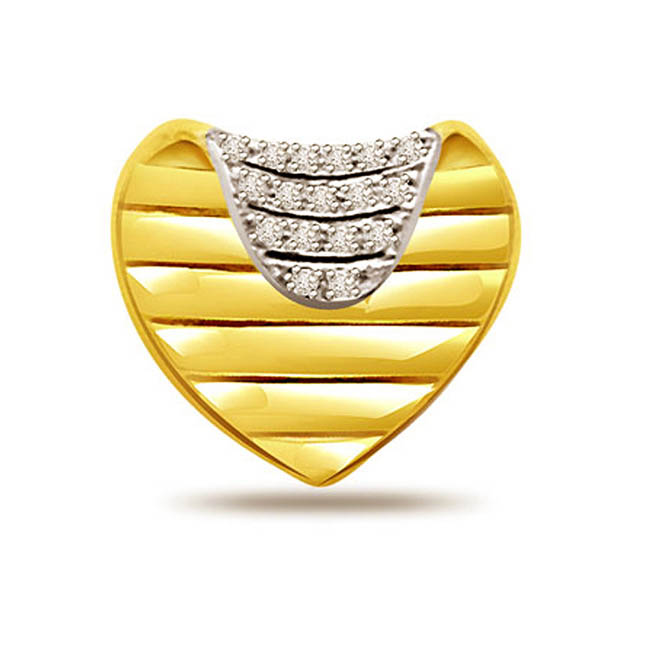 Divine Heart 0.34ct Diamond Pendants