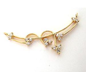 DN -58 Brilliant Diamond & Gold Necklace Pendants Necklaces