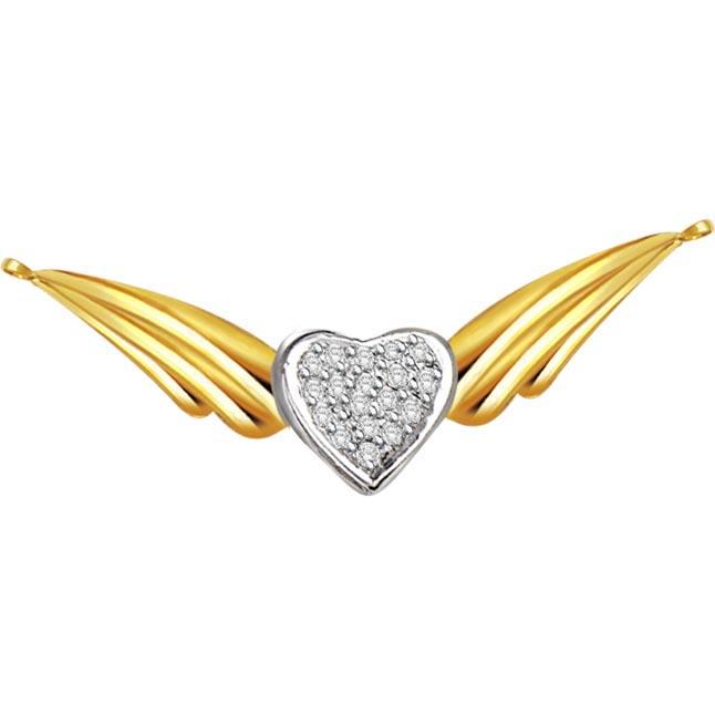 Hidden Treasure 0.13 ct Diamond Necklace Pendants DN114