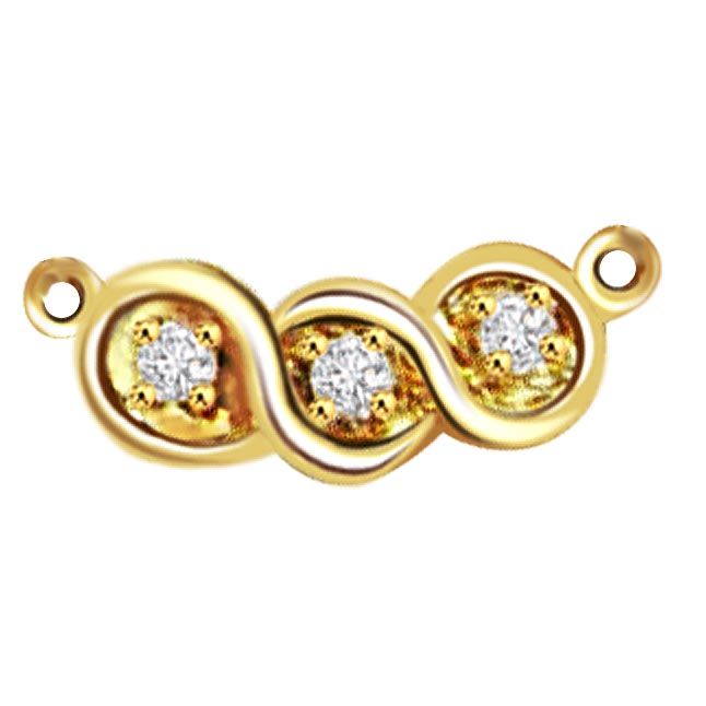 Stars of Gold 0.15ct Diamond Necklace Pendants Necklaces