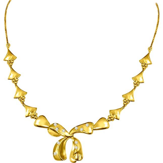 Royal Bouquet Necklace 0.25ct VS Clarity Diamond Necklace -Diamond Necklace