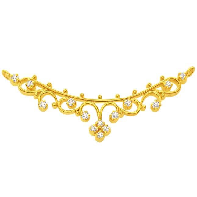 Demure Diamond Pendants Necklaces