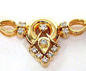 Dazzling Damsel Diamond Pendants Necklaces