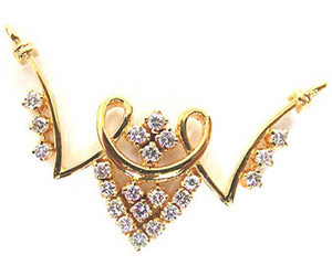 Golden Umbrella 0.54 cts Beautiful Diamond Necklace Pendants Necklaces