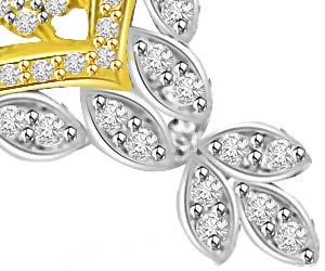 Dream of Fairy Two Tone 0.64ct VS Diamond Mangalsutra Pendants