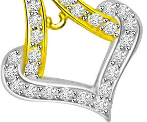 Two Tone Anchor Diamond & Glitterings Gold Pendants -Designer Pendants