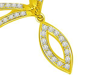 A Ray Of Hope Diamond Yellow Gold Pendants Necklaces