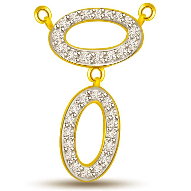 The Power Of Love Two Tone Diamond & Gold Pendants -Teenage