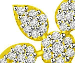 Cosmic Power Diamond & Gold Flower Pendants