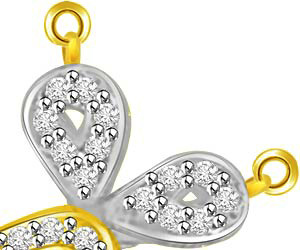Meaning Of Life Ruby & Diamond Two Tone Pendants -Diamond -Ruby