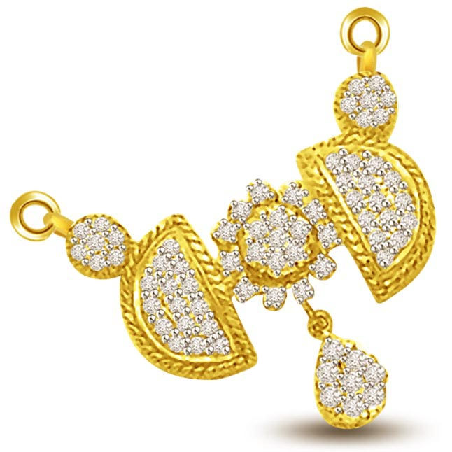 Meaning Of Love & Marriage Diamond Mangalsutra Pendants