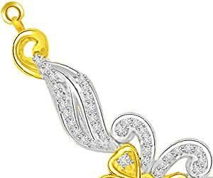 Petals Of Love Two Tone Diamond Mangalsutra Pendants