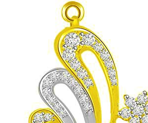 Elegant Love Charm Diamond & Gold Pendants