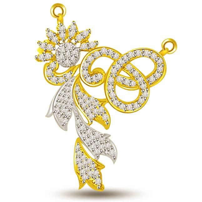 Cycles Of Heaven Diamond & Gold Mangalsutra Pendants