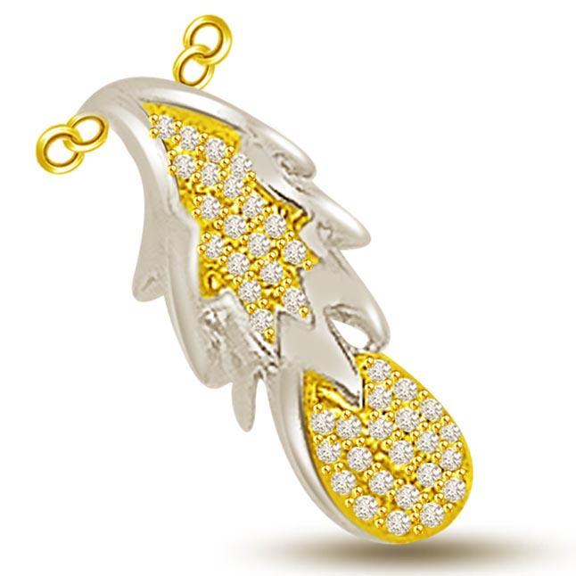The Fruit Of Life..Two Tone Diamond & Gold Pendants -Teenage