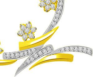 Stars & Stripe Two Tone Fancy Diamond Pendants