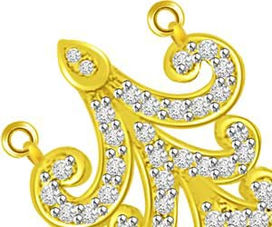 Trishul Flower 18kt Diamond & Gold Pendants Necklaces