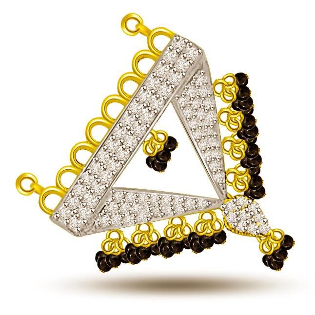 Birth Of Life Gold & Diamond Mangalsutra Pendants