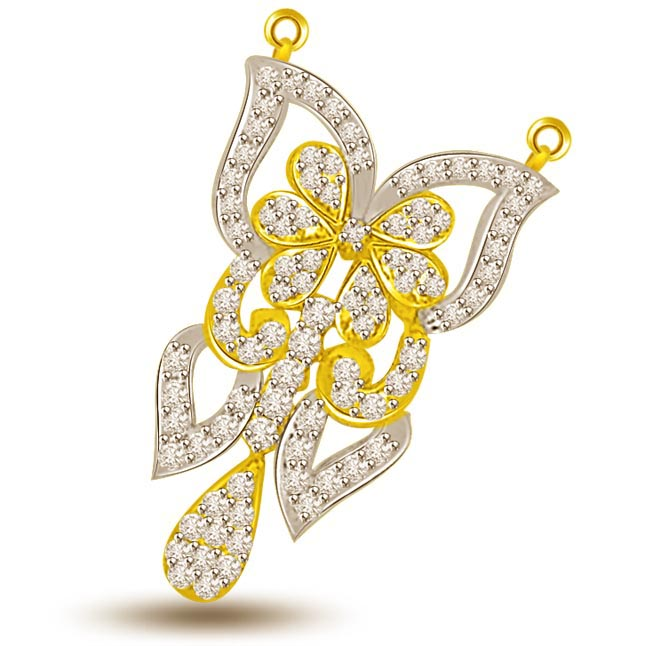 Petals Of Love Gold & Diamond Pendants For Her