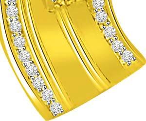 Waterfall Gold & Diamond Beautiful Pendants For Her -Designer Pendants