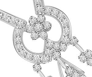 Energy Of My Life Gold & Diamond Pendants For Her -Flower Shape Pendants
