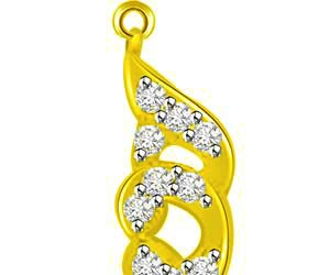 Life Is Beautiful Yellow Gold Diamond Pendants Necklaces