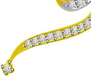 Love You Forever Diamond & Gold Pendants For Her -Designer Pendants
