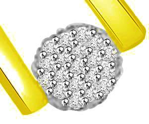 You & Me Forever In Love Diamond & Gold Pendants -Flower Shape Pendants
