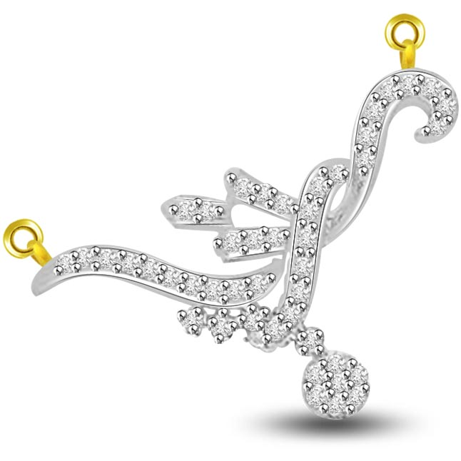 Only For You Diamond & Gold Entwined Pendants