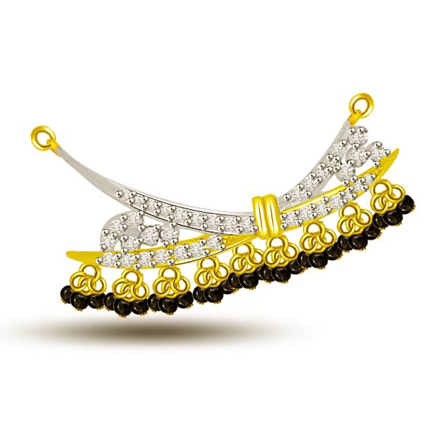 You Are My Dream Diamond & Gold Mangalsutra Pendants