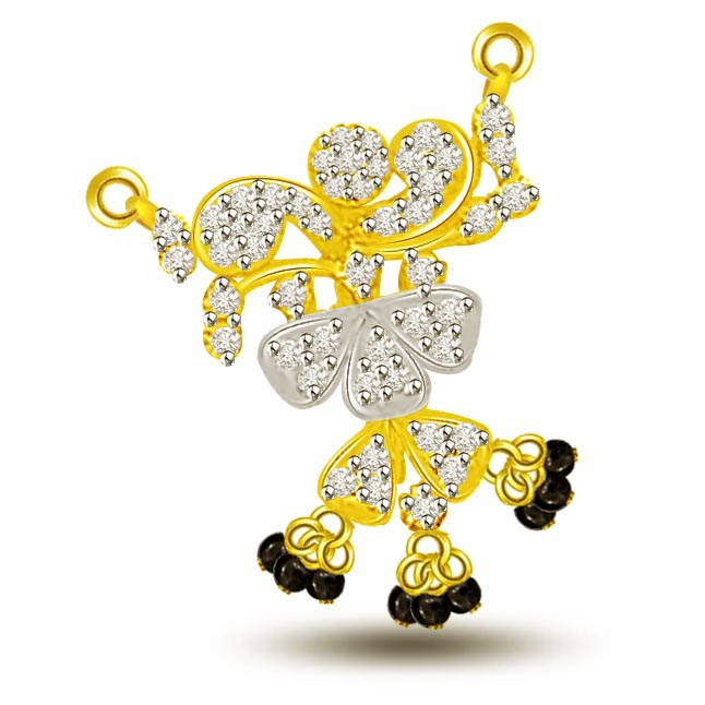 Beautiful Ballerina Diamond & Gold Mangalsutra Pendants