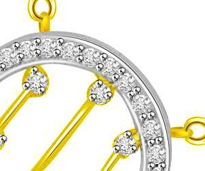 Wheels Of Fortune Diamond & Gold Two Tone Pendants -Teenage