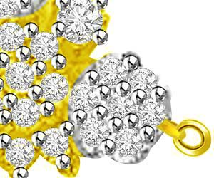 Fragrance Of Flower Diamond & Gold Pendants For Her