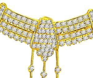 1.50ct Two Tone Diamond Necklace Pendants For My Love -Diamond Necklace