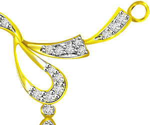 Dew Drop Of Life Two Tone Diamond Necklace Pendants Necklaces