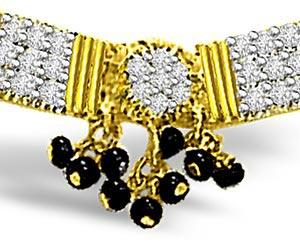 0.31ct Classy Gold & Diamond Mangalsutra Pendants