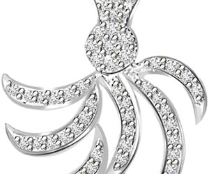 I Am Complet With You White Gold Diamond Pendants -White Gold