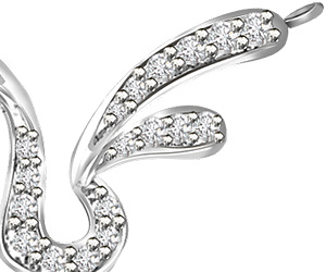 Magic of waves Beautiful Diamond Neckalce Pendants in 14kt White Gold Necklaces
