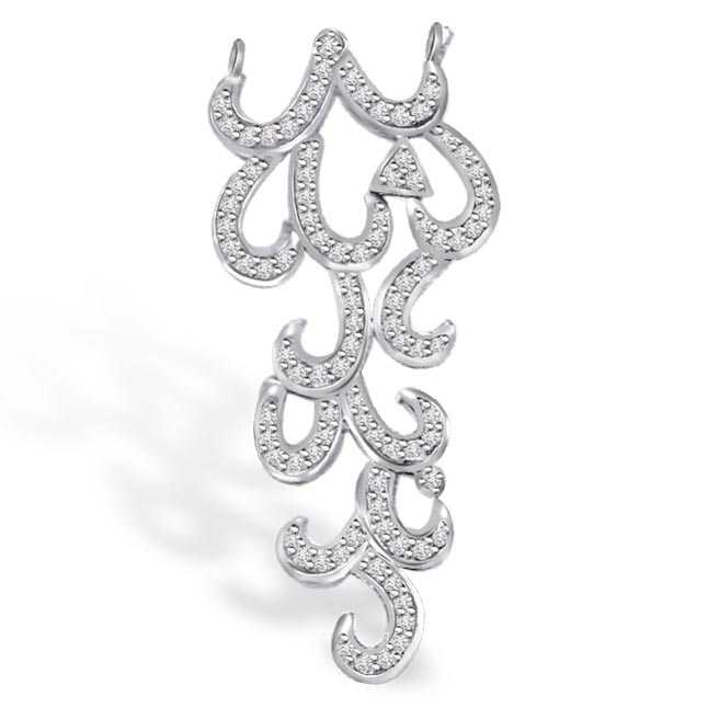 You Are My Flame 0.62ct Diamond Pendants For Her -White Gold