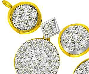 1.04ct Two Tone Gold & Diamond Mangalsutra Pendants
