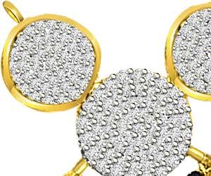 1.00ct Two Tone Clean White Diamond Mangalsutra Pendants