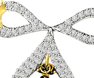 0.62ct White Diamond Stylish Mangalsutra Pendants