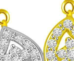 You & Me Forever Together Diamond Mangalsutra Pendants