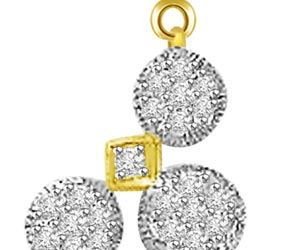 1.21ct White Clean Diamond Mangalsutra Pendants For Her