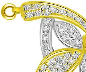 1.50ct Bow & Flower Chic Diamond Pendants Necklace