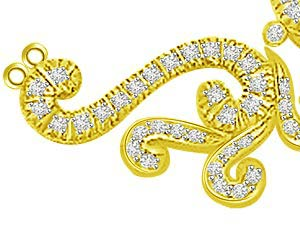 Twin Spiral Shaped 0.59cts Diamond Necklace Pendants Necklaces