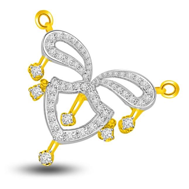 Beloved 0.69ct Two Tone Diamond Necklace Pendants