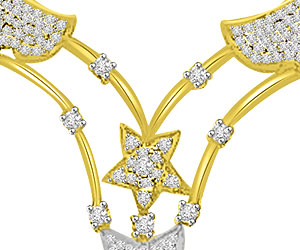 Stars & Petals 1.26ct Diamond Necklace Pendants For Her